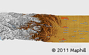 """Physical Panoramic Map of the area around 40°23'48""""N,105°19'29""""W"""