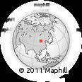Outline Map of Baileng, rectangular outline