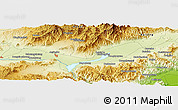 """Physical Panoramic Map of the area around 40°23'48""""N,115°40'30""""E"""