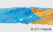 """Political Panoramic Map of the area around 40°23'48""""N,115°40'30""""E"""