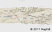 """Shaded Relief Panoramic Map of the area around 40°23'48""""N,115°40'30""""E"""