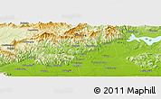 "Physical Panoramic Map of the area around 40° 23' 48"" N, 116° 31' 30"" E"