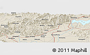"Shaded Relief Panoramic Map of the area around 40° 23' 48"" N, 116° 31' 30"" E"