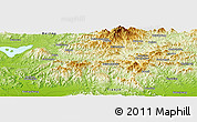 """Physical Panoramic Map of the area around 40°23'48""""N,117°22'30""""E"""