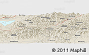 """Shaded Relief Panoramic Map of the area around 40°23'48""""N,117°22'30""""E"""