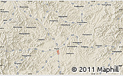 Shaded Relief Map of Gushanzimanzu