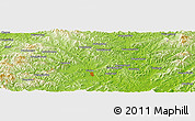 "Physical Panoramic Map of the area around 40° 23' 48"" N, 123° 19' 29"" E"