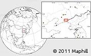 Blank Location Map of Daweizigou