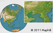 Satellite Location Map of Daweizigou