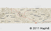 Shaded Relief Panoramic Map of Dafangshen