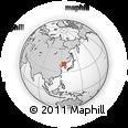 Outline Map of Liujiajie, rectangular outline