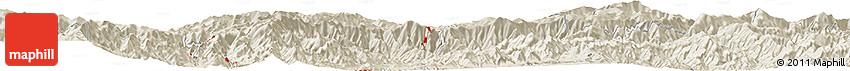Shaded Relief Horizon Map of Hoha-ri