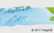 """Physical Panoramic Map of the area around 40°23'48""""N,14°31'30""""E"""