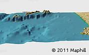 "Satellite Panoramic Map of the area around 40°23'48""N,14°31'30""E"