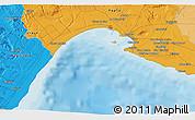 Political 3D Map of Montescaglioso