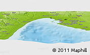 """Physical Panoramic Map of the area around 40°23'48""""N,17°4'30""""E"""