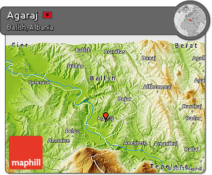 Physical 3D Map of Agaraj