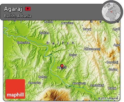 Physical Map of Agaraj