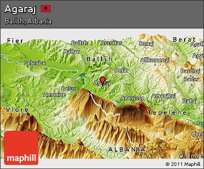 Physical Panoramic Map of Agaraj