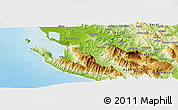 Physical Panoramic Map of Bënçë