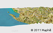 Satellite Panoramic Map of Bënçë