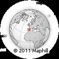 Outline Map of Santa Eulalia, rectangular outline