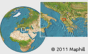 """Satellite Location Map of the area around 40°23'48""""N,20°28'30""""E"""