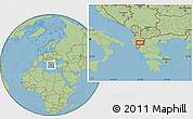 Savanna Style Location Map of Maricaj