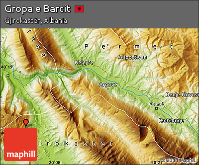 Physical Map of Gropa E Barcit