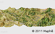 Satellite Panoramic Map of Bogovë