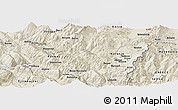 Shaded Relief Panoramic Map of Berzanaj