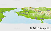 "Physical Panoramic Map of the area around 40° 23' 48"" N, 23° 1' 29"" E"