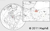 Blank Location Map of Bursa
