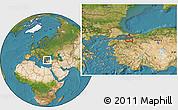 Satellite Location Map of Bursa