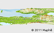 """Physical Panoramic Map of the area around 40°23'48""""N,28°58'30""""E"""