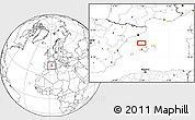 """Blank Location Map of the area around 40°23'48""""N,2°37'30""""E"""