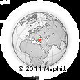 Outline Map of Güdül, rectangular outline