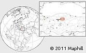 Blank Location Map of Çankırı
