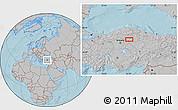 Gray Location Map of Çankırı, hill shading