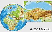 Physical Location Map of Çankırı