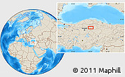 Shaded Relief Location Map of Çankırı