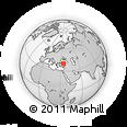 Outline Map of Çankırı, rectangular outline