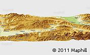 Physical Panoramic Map of Tokat