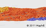 Political Panoramic Map of Tokat