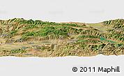 Satellite Panoramic Map of Tokat