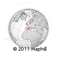 """Outline Map of the Area around 40° 23' 48"""" N, 3° 28' 30"""" E, rectangular outline"""