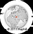Outline Map of Pazaryolu, rectangular outline