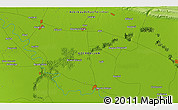 """Physical 3D Map of the area around 40°23'48""""N,47°40'29""""E"""