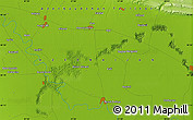 """Physical Map of the area around 40°23'48""""N,47°40'29""""E"""