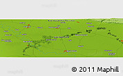 """Physical Panoramic Map of the area around 40°23'48""""N,47°40'29""""E"""